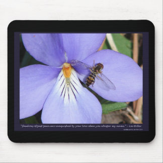 Nature Of  Love Birds-Foot Violet Mouse Pad