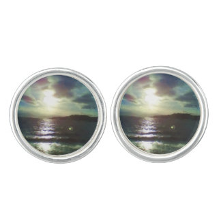 Nature of sea paint cuff links