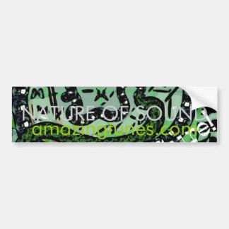 Nature of Sound - Customized Car Bumper Sticker