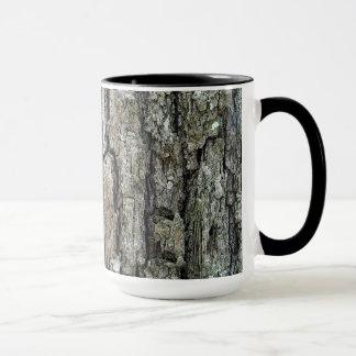 Nature Old Pine Tree Bark with Name Mug