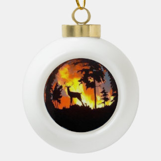 Nature on Fire Ceramic Ball Decoration