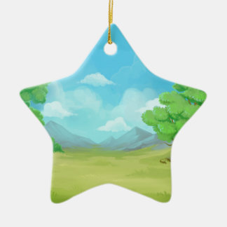 Nature painting design christmas ornament