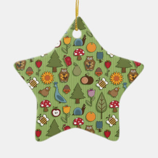 Nature pattern christmas ornament