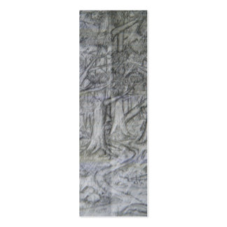 Nature Pencil Drawing Bookmark Pack Of Skinny Business Cards