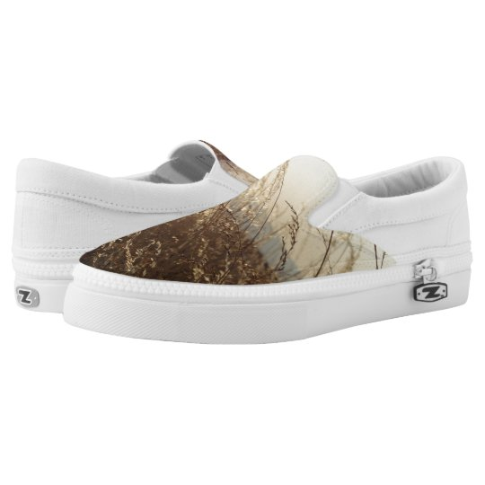 Nature Photo Custom Zipz Slip On Shoes Printed Shoes