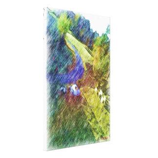 Nature photo drawing canvas print