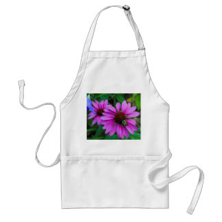 Nature Photo of a Bumble Bee on a Flower Adult Apron