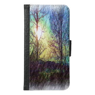 Nature photo paint samsung galaxy s6 wallet case