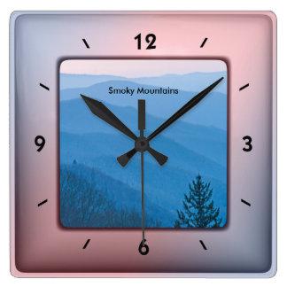 Nature Photography - Smoky Mountain Sunrise SQ Square Wall Clock