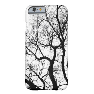 nature photography winter trees black and white barely there iPhone 6 case