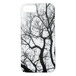 nature photography winter trees black and white iPhone 7 case