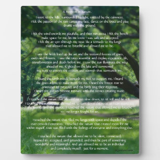 Nature Poem Photo Plaque