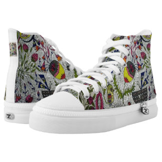 nature printed shoes