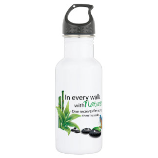 Nature qoute 532 ml water bottle