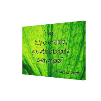 Nature Quote Canvas Print