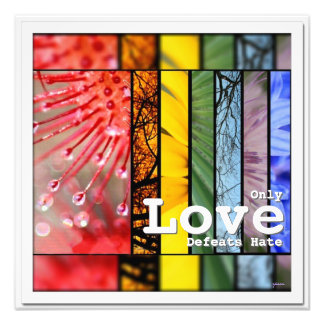 Nature Rainbow LGBT Pride Symbol Love Defeats Hate Photographic Print