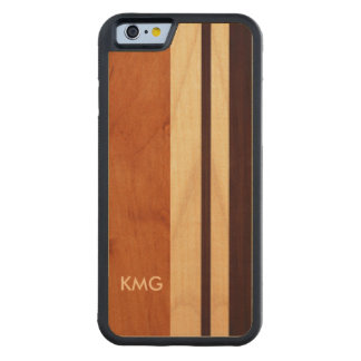 Nature Real Wood Made Monogrammed Monograms Maple iPhone 6 Bumper Case