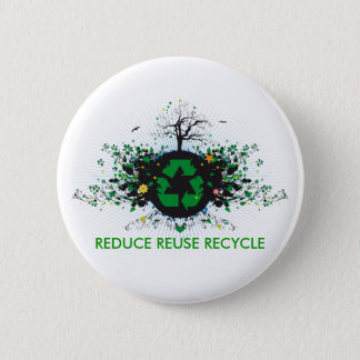 Nature Recycles 6 Cm Round Badge