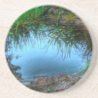 Nature Reserve Lily Pond Drink Coaster
