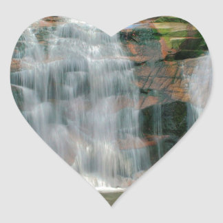 Nature River Autumn Sheer Falls Heart Sticker