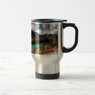 Nature River Blue Lagoon Mountains Mugs