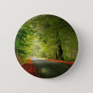 Nature Road Springtime Woods 6 Cm Round Badge
