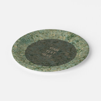 Nature Rock Photo Geology Green Texture any Text 7 Inch Paper Plate