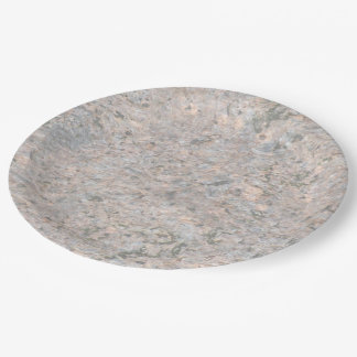 Nature Rock Photo Geology Texture 9 Inch Paper Plate