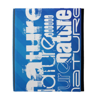 Nature; Royal Blue Stripes iPad Folio Cases