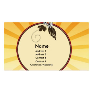 Nature s Bounty Business Card Template