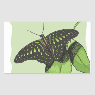Nature's Camouflage Butterfly Rectangular Sticker