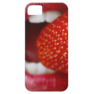 Nature s Candy - Woman Eating Strawberry iPhone 5 Cases