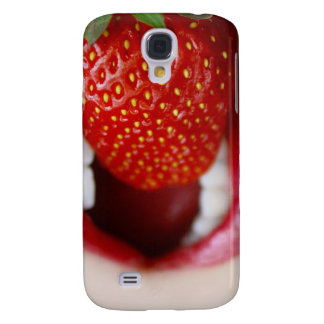 Nature s Candy - Woman Eating Strawberry Samsung Galaxy S4 Case