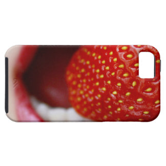 Nature s Candy - Woman Eating Strawberry iPhone 5 Case