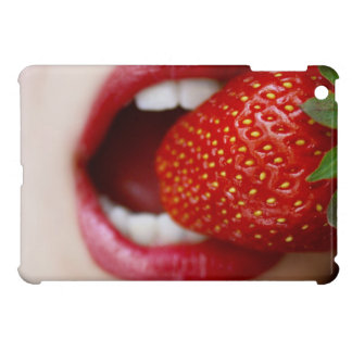 Nature s Candy - Woman Eating Strawberry iPad Mini Cases