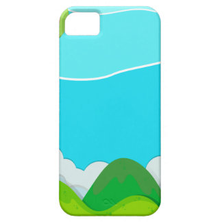 Nature scene with balloon over hills iPhone 5 covers