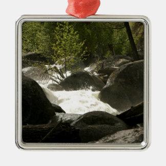 Nature Silver-Colored Square Decoration