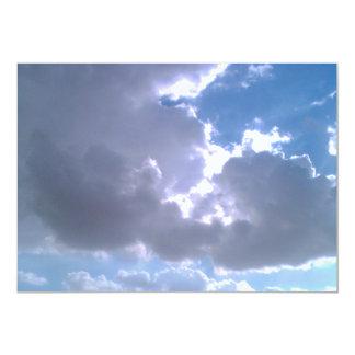 Nature Sky Clouds Invitation Card