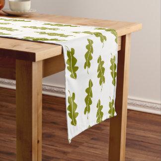 Nature Spring Green Leaves Pattern, Custom Color Medium Table Runner