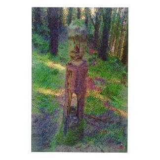Nature statue wood print