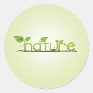 Nature Round Stickers