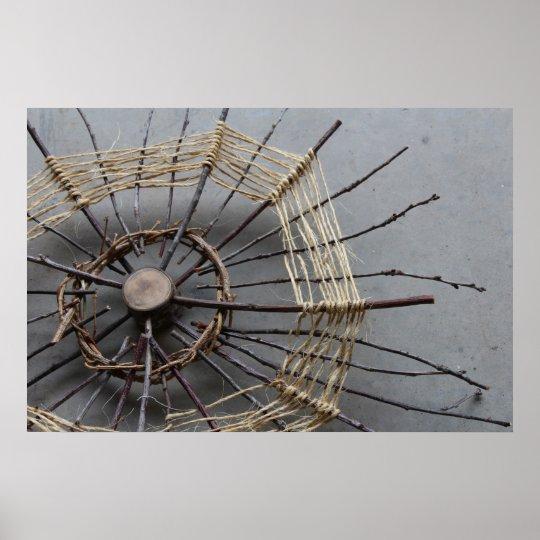 Nature String Art Sculpture Photography Oblique Poster