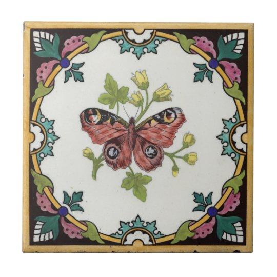 Nature Study Tile c1872 Mintons Vintage Design