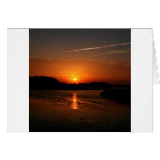 Nature Sunset Dark Rocky Coast Greeting Card