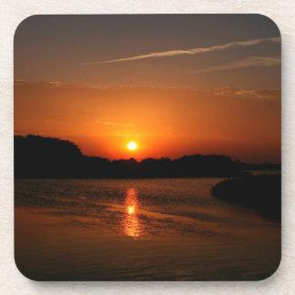 Nature Sunset Dark Rocky Coast Coasters