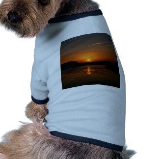 Nature Sunset Dark Rocky Coast Doggie Shirt