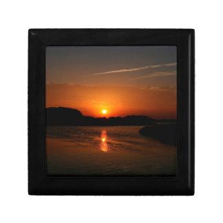 Nature Sunset Dark Rocky Coast Keepsake Box