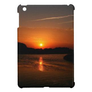 Nature Sunset Dark Rocky Coast iPad Mini Covers