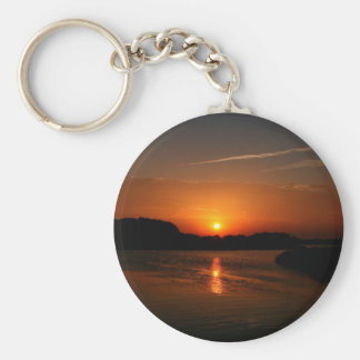 Nature Sunset Dark Rocky Coast Keychains