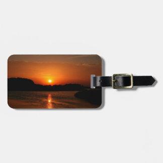 Nature Sunset Dark Rocky Coast Bag Tags